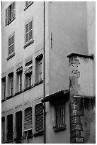 House facade. Grenoble, France ( black and white)