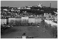 Place Bellecour. Lyon, France ( black and white)