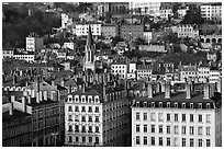 Eglise St-George, vieille ville. Lyon, France ( black and white)