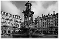 Place des Jacobins. Lyon, France ( black and white)
