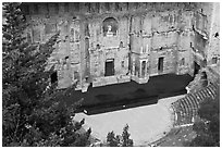 Roman Theater. Provence, France ( black and white)