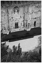 Ancient Roman Theatre, Orange. Provence, France (black and white)