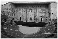 Theatre antique, Orange. Provence, France ( black and white)