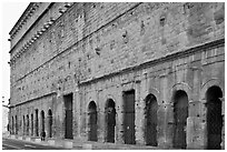 Back of the Roman Theatre. Provence, France ( black and white)