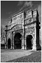 Triumphal arch, Orange. Provence, France (black and white)