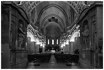 Inside the Cathedral of Notre-Dame-des-Doms. Avignon, Provence, France (black and white)