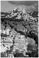 Limestone outcrops, Les Baux-de-Provence. Provence, France (black and white)
