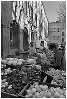 Daily Farmer's market, place Richelme. Aix-en-Provence, France ( black and white)