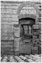Thermae of of Constantine. Arles, Provence, France (black and white)