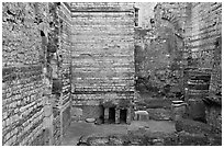 Baths of Constantine. Arles, Provence, France (black and white)