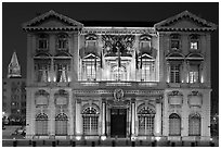 Historic customs house. Marseille, France ( black and white)
