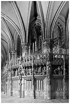 Sanctuary and vaults, Cathedral of Our Lady of Chartres,. France ( black and white)