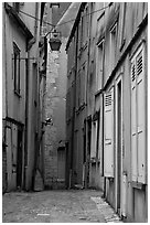 Alley, Chartres. France (black and white)
