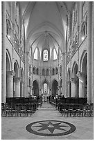 Mass, Saint Quiriace Collegiate Church, Provins. France ( black and white)