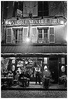 Restaurant and building, Montmartre. Paris, France ( black and white)
