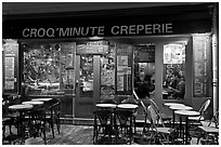 Creperie, Montmartre. Paris, France ( black and white)
