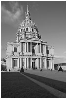Eglise du Dome, Les Invalides. Paris, France (black and white)