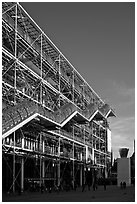 Beaubourg center and National Museum of Modern Art. Paris, France (black and white)