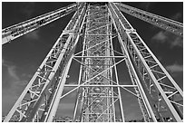 Ferris Wheel (grande roue) structure. Paris, France ( black and white)