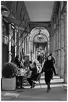 Arcades, Palais Royal. Paris, France ( black and white)