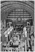 Inside of the Musee d'Orsay. Paris, France ( black and white)
