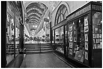 Antiquarian Bookstore, passage Vivienne. Paris, France (black and white)