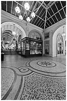 Mosaic, passage Vivienne. Paris, France (black and white)