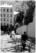 Staircase, Montmartre. Paris, France (black and white)