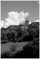 Hill of Vezelay. Burgundy, France (black and white)