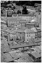 The old town of Sisteron. France ( black and white)
