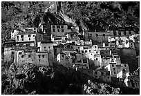 Zongkul Gompa, Zanskar, Jammu and Kashmir. India ( black and white)