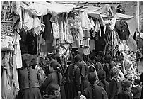 Market, Keylong, Himachal Pradesh. India ( black and white)