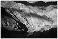 River Valley and cloud shadows, Zanskar, Jammu and Kashmir. India ( black and white)