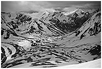 Shingo La Pass, Zanskar, Jammu and Kashmir. India (black and white)