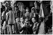 Women in market, Keylong, Himachal Pradesh. India (black and white)