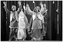 Performances at Dances of India. New Delhi, India (black and white)