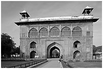 Naubat Khana (Drum house), Red Fort. New Delhi, India ( black and white)