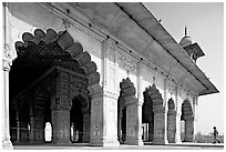 Hammans (baths), Red Fort. New Delhi, India (black and white)