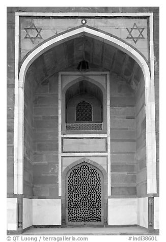 Side alcove, Humayun's tomb. New Delhi, India
