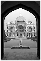 Cenotaph seen through entrance gate. New Delhi, India ( black and white)