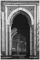Alai Darweza gate. New Delhi, India (black and white)