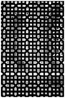 Screened window, Imam Zamin tumb, Qutb complex. New Delhi, India (black and white)