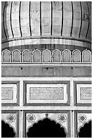 Dome and arches detail, Jama Masjid. New Delhi, India (black and white)