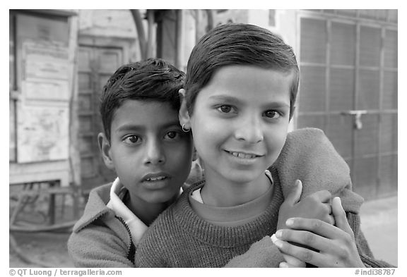 Boys. Jodhpur, Rajasthan, India (black and white)