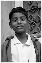 Boy. Jodhpur, Rajasthan, India (black and white)