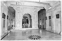 Inside Jaswant Thada. Jodhpur, Rajasthan, India ( black and white)