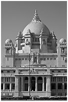 Umaid Bhawan Palace. Jodhpur, Rajasthan, India (black and white)