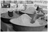 Spices, Sardar market. Jodhpur, Rajasthan, India (black and white)