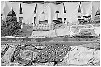 Laundry. Varanasi, Uttar Pradesh, India ( black and white)