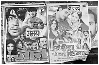 Bollywood movies billboards. Mumbai, Maharashtra, India ( black and white)
